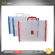 transparent plastic file folder carrying case with handle