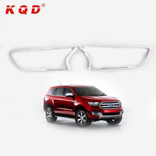 car decoration accessories front headlight covers chrome for 2016 endeavour everest