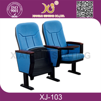 Cheap price good supplier auditorium chairs with writing pad/ tablets XJ-103B