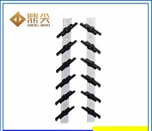 hot sale 12 blade PP clip aluminium single contral louver glass window frames