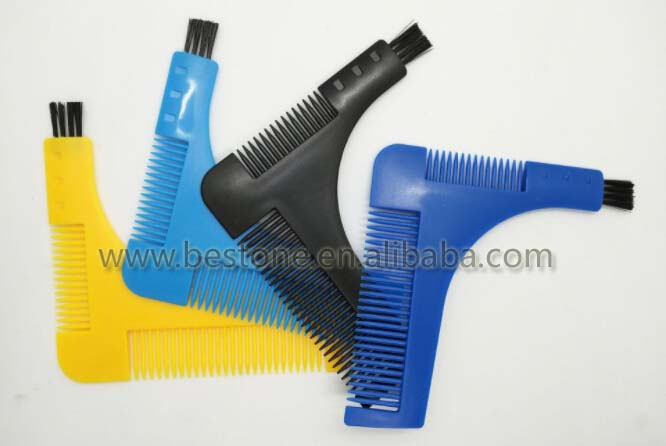 Plastic Beard Bro Template Shaping Tool Combs