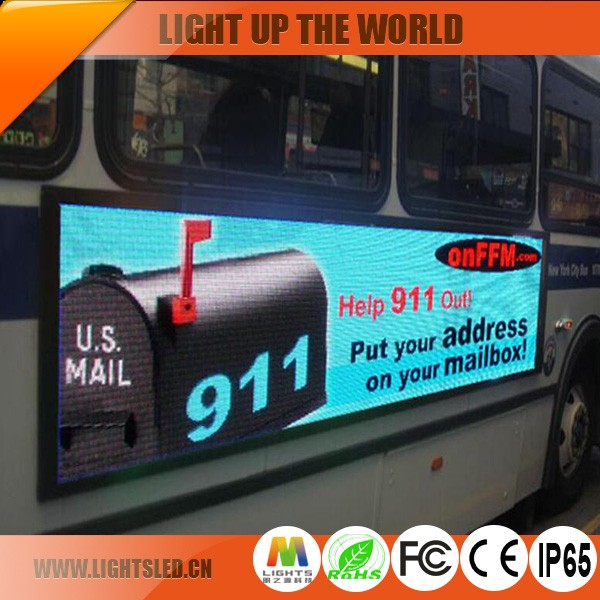 Shenzhen P6 Leader taxi top led display advertising Car/Bus/Truck china price video screen