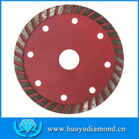 "4"" 107mm sintered continuous rim turbo grinding&cutting diamond saw blade, cutting granite, marble, limestone, concrete"