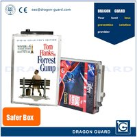 Hot selling EAS DVD Double anti-theft safer Box eas pc transparent dvd security cases, eas dvd security cases
