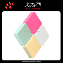 Mix color square cosmetic makeup sponges,Latex Free Makeup Sponge,one dollar shop