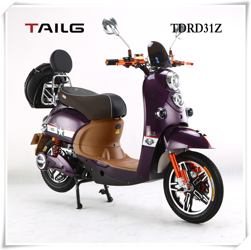 2015 new fashion 350w cheap electric motorcycle with pedals