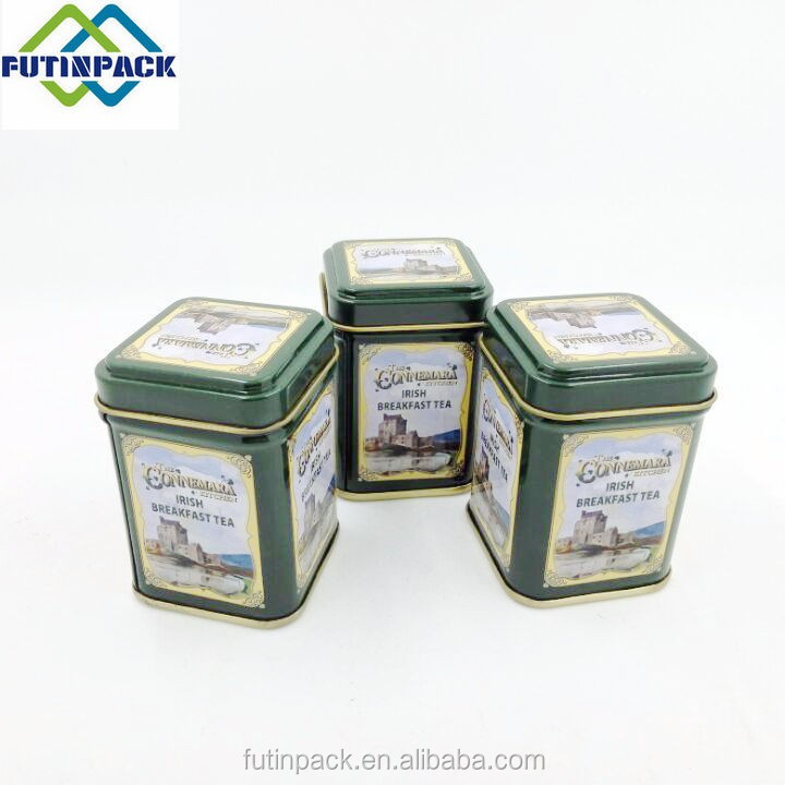 Wholesale Small Square Gift Tin Box Package for Tea