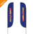 wholesale advertising feather teardrop banner flag banners
