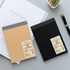 High Quality Custom Logo blue pvc cover staple notebooks