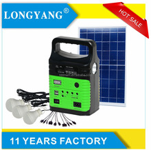 Portable 6w solar lighting kit with lithium battery solar home system for outdoor lighting