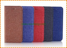 Jean cloth Leather Wallet Mobile Phone Case for iPhone 7