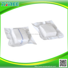 disposable surgical absorbent non-sterile gauze swabs with folded edge