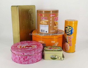 OEM Customized Metal Cake Cookie Biscuit Tin Box for packaging
