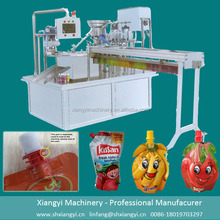 Automatic standup pouch beverage filling &capping and sealing machine