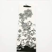 black flower Classic pattern paper wine tote bag wholesale