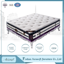 Sleep well customized compress rollable foam mattress cheap pocket spring bed mattress