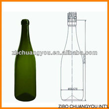 1500ml glass champagne bottle,1.5l (CYJ-0330)