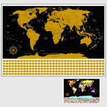 Detailed Scratch Off World/USA Travel Map training map