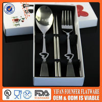 Cheap stainless steel spoon & fork indian wedding gifts for guests