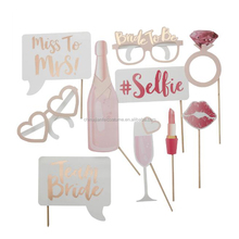 Amazon New funny lipstick glasses Bachelorette party team bride to be photo booth props for wedding supply