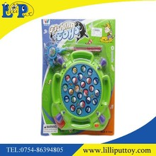Inteligent green magnetic battery operated fishing game toy for kid