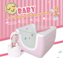 Baby Lovely Bathing Equipment Side Glass Massage Spa Jets Portable Bathtub