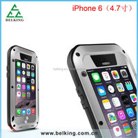 4.7 inch for iPhone 6 love mei aluminum waterproof shockproof case, love mei protective waterproof case for iPhone 6