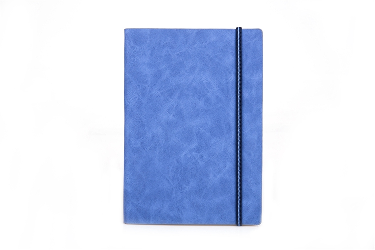 China Cheap Bulk Elastic Band PU Leather Hardcover A5 Notebooks