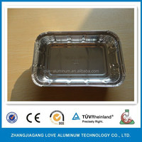 Household Recyclable Hot Sale Aluminum Foil Container BBQ Grill Tray Aluminum Grille Disposable Trays