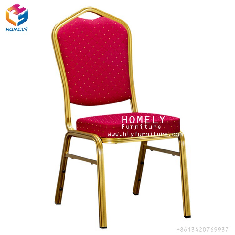 cheap price rental wholesale used stacking hotel hall dining stackable gold iron metal steel aluminum banquet chair for sale