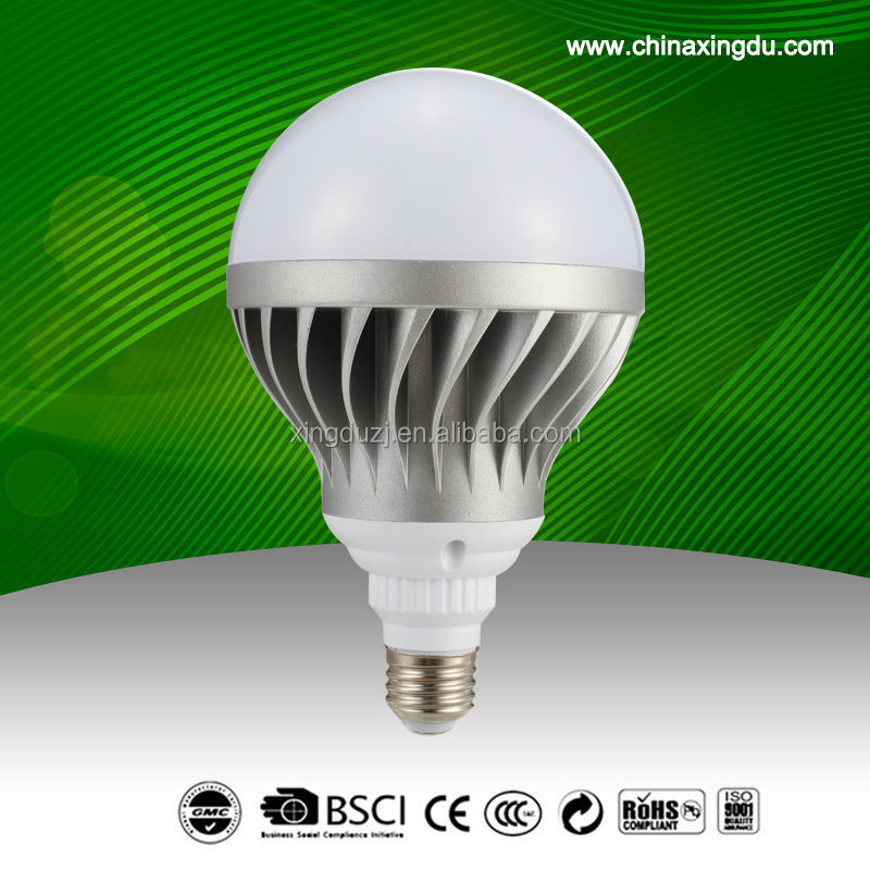 Residential led Die-Cast Aluminum + PC LED light bulb 24W
