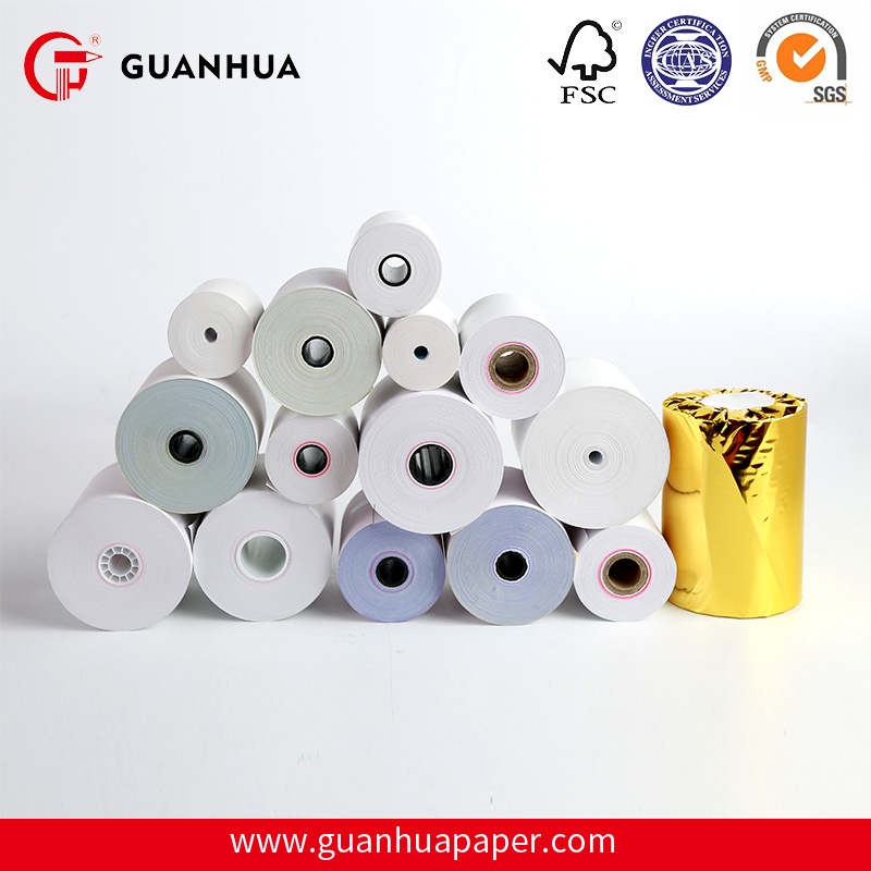 Guanhua High Quality 80mm thermal paper roll back print cash register paper