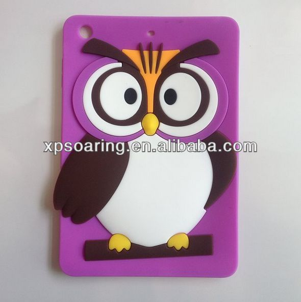 Brand New Animal silicone case for ipad mini owl design