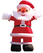 Inflatable Santa Clause For Christmas Decoration And Promotion Giant Ofxord Fabric Santa