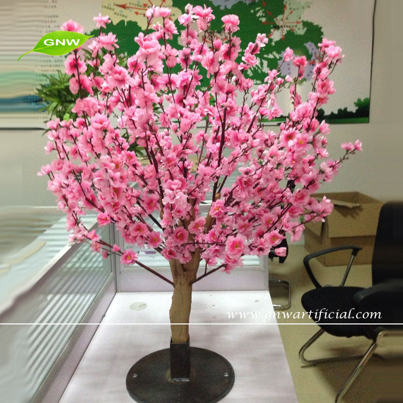 GNW BLS068 Cheap Table Centerpieces Decor Artificial Pink Flower Cherry Blossom Tree for office decoration