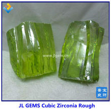 Apple Green Good Quality Cubic Zirconia Rough