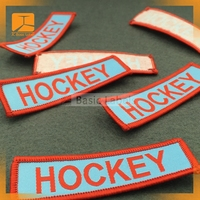 Bulk Custom T-Shirt custom style woven patch labels for garment and clothing