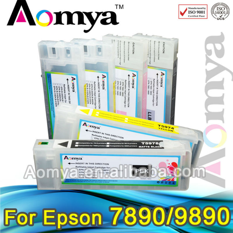 Aomya ink cartridge compatible for epson T6361 T6362 T6363 T6364 T6365 T6366 T6367 T6368 T6369 for epson 7890 9890 7908