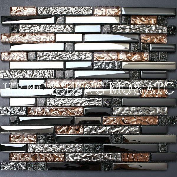 Baldosas de mosaico azulejos de la cocina adhesivas for Baldosas adhesivas pared