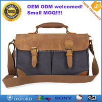 Factory OEM design promotional mens leather messenger bag
