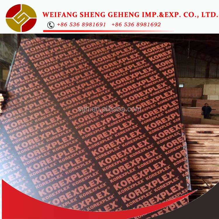 High quality 12mm film faced plywood for construction different types of plywood