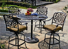 NEW! 3 PIECE TULIP CAST ALUMINUM BISTRO SET - ANTIQUE COPPER - 4 CHAIRS + TABLE