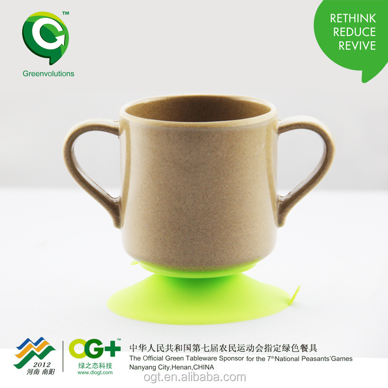 2015 Christmas compostable rice husk baby drinking cup