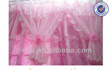 Curtain fabric Textile Small MOQ living room Colorful flocked organza curtain fabric