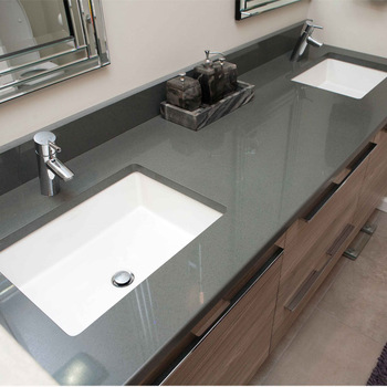 German style commercial bathroom vanity units with quartz bathroom vanity tops