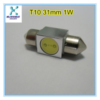 T10 W5W 501 LED T10 1W 31mm festoon light 6v led auto bulbs