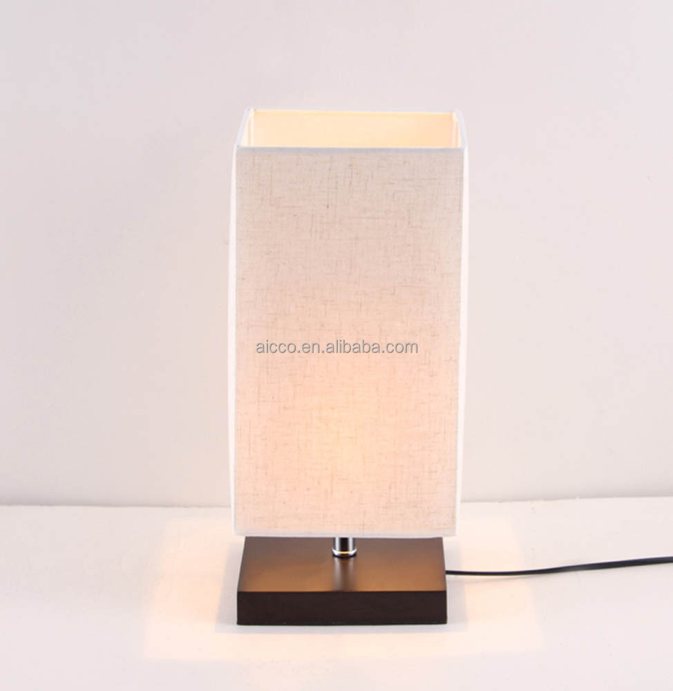 Modern Wooden Round Table Lamp With Linen Shade Decorative Home Table Lamp  Cheap Price Dimmable Switch. Wholesale Modern Wooden Round Table Lamp With Linen Shade
