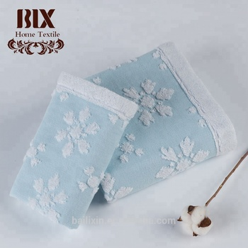 100% cotton jacquard snowflake custom cooling baby towel bath