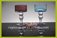 2014 hot selling colorful variety of high temperature resistant glass candle holders