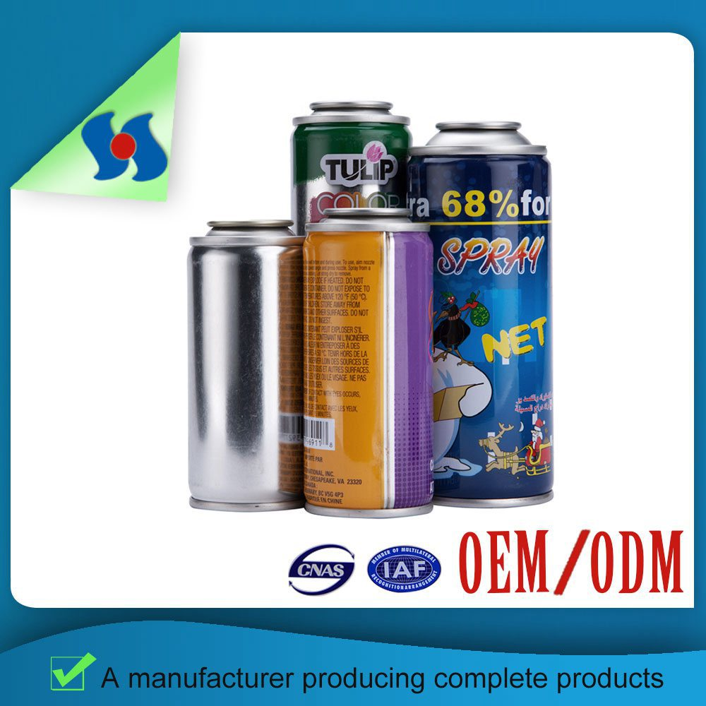 Retail Best Quality Four Color Cmyk Print Clearly Gas Lighter Tinplate Aerosol Can